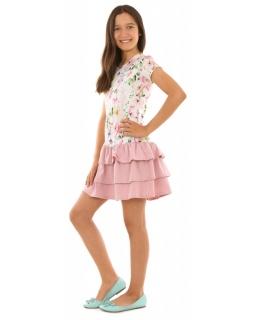 2af9a8139b Wielokolorowa sukienka dla dziewczynki 116-158 KRP246
