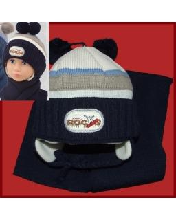 Komplet czapka i szalik dla chłopca 44-46 Alan