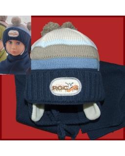 Komplet czapka i szalik dla chłopca 44 - 48 Alan