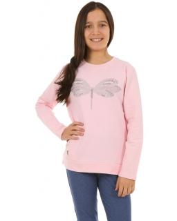 Dziecięca bluza sportowa 128-164 KRP252 pudrowy róż