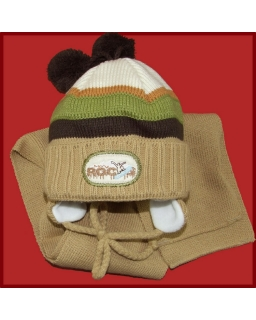 Komplet czapka i szalik dla chłopca 44 - 46 Alan