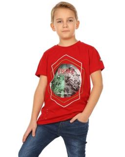 Bawełniana koszulka dla chłopca 116-158 KRP254 czerwona