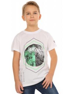 Chłopięca koszulka na lato 116-158 KRP254 biała