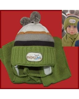 Komplet czapka i szalik dla chłopca 46 - 48 Alan