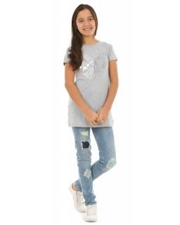 13d2104530 Tunika dla dziewczynki 128-164 KRP256 szara