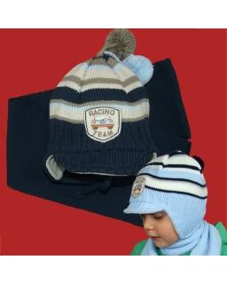 Zimowy komplet czapka i szalik dla chłopca 42 - 44 Albert