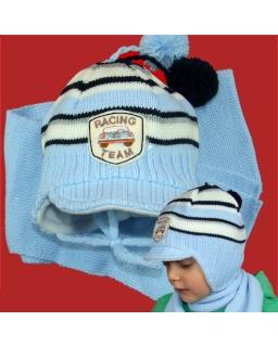 Zimowy komplet czapka i szalik dla chłopca 42 - 46 Albert