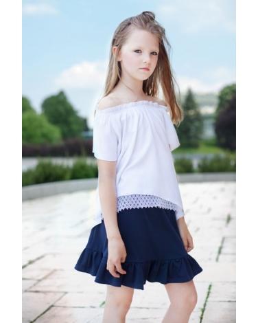 bluza biała dla dziewczynki 164