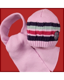 Zimowy komplet dla dziewczynki czapka i szalik 50 Daria