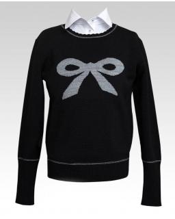 Szkolny sweterek dla uczennicy 128-158 408/s/17 czarny