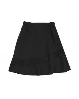 Galowa spódnica z koronkową wstawką 122-152 Gaja czarny