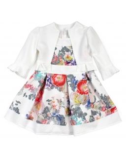 Komplet dla dziewczynki sukienka i bolerko 122-158 Rosa ecru