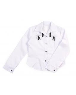Koszula dla dziewczynki z kokardkami 122-158 Edytka 2 biała