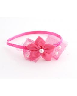 Opaska z perełkami LP20 różowa