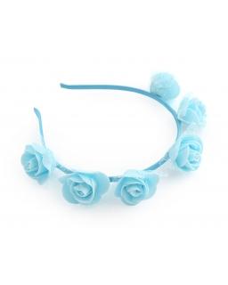 Opaska z różami LP34 niebieska