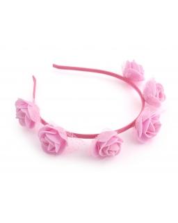 Opaska z różami LP34 różowa