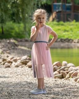 Sukienka dla dziewczynki 122-164 P-149/viw pudrowy róż