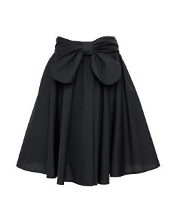 Spódnica z fantazyjną kokardą 122-158 307a/s/19 czarna