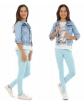 Gładkie legginsy bawełniane 116 - 158 KRP05 Osiem kolorów