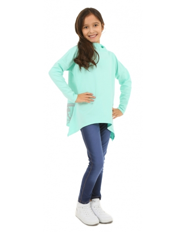Bluza dziewczęca typu oversize 128-158 KR56 mięta