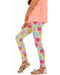 Świetne legginsy w kolorowe kwiaty 116-158 lgg19 multikolor