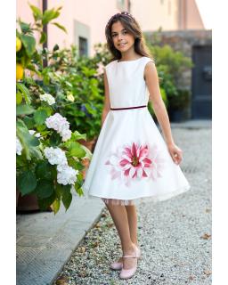 Weselna sukienka dla dziewczynki 128-158 18a/SM/19 ecru