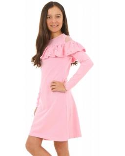 f507ed1b Sukienka hiszpanka dla dziewczynki 128-158 KRP215 pudrowy róż