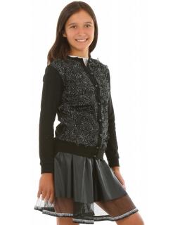 Elegancki sweterek dla dziewczynki 116-158 KRP272 czarny