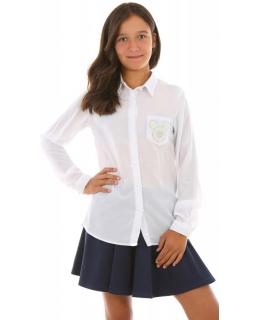 Klasyczna koszula z myszką 128-164 KRP276 biała