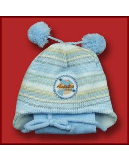 Zimowy komplet czapka z pomponami i szalik 42 - 46 Dżamila