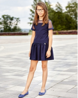 Sukienka galowa dla dziewczynki, granatowa, sklep internetowy, on-line