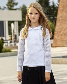 Białe bluzeczki szkolne, bluzka koronkowa, dla dziewczynki, sklep