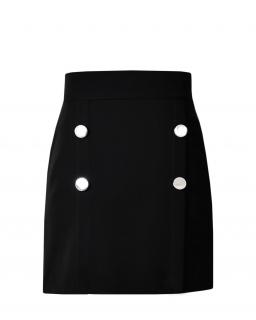Szkolna spódnica z guzikami 134-164 Zoya czarna