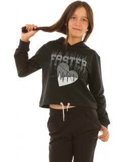 Modna bluza z kapturem dla dziewczynki sklep