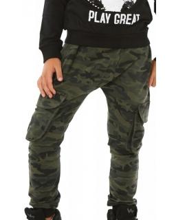 Spodnie baggy moro dla chłopca 116-158 zielony