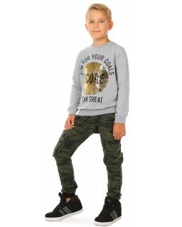 Spodnie baggy moro dla chłopca 116-158 KRP288 zielony