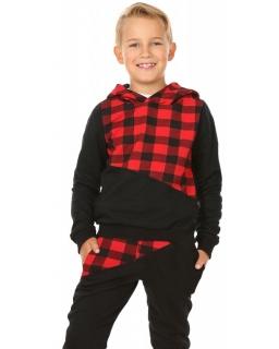 Dresy chłopięce, dla chłopca, sklep, dres krata bluza i spodnie