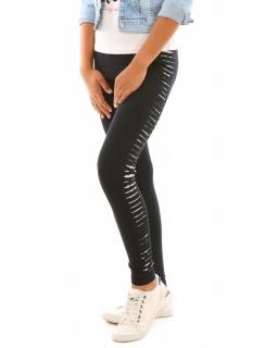 Wygodne bawełniane legginsy getry dla dziewczynek granatowe, sklep