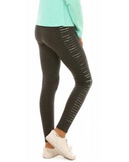 Wygodne bawełniane legginsy getry dla dziewczynek grafitowe, sklep