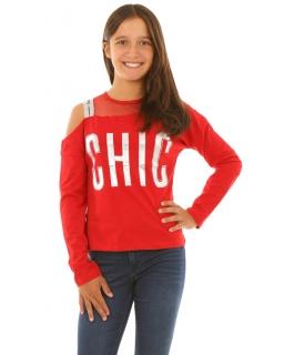 Bluzka dla dziewczynki z odkrytymi ramionami