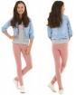 Gładkie legginsy bawełniane 116 - 158 KRP05 Dziewięć kolorów