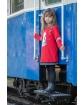 Sukienka z nadrukiem 122-158 P-159/viw czerwona