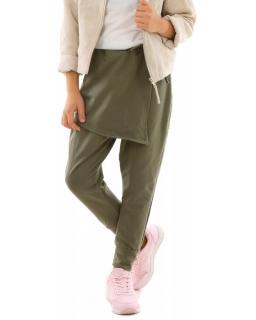 Spodnie baggy z zakładką na przodzie 116-158 KRP304 oliwka