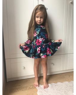 Sukienka z dzianiny dla dziewczynki 92-128 Erin granatowa