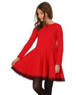 Bawełniana sukienka z koła 116-158 KR49 dwa kolory
