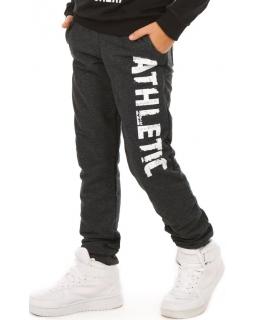 Sportowe spodnie dla chłopca 116-158 KRP305 czarne