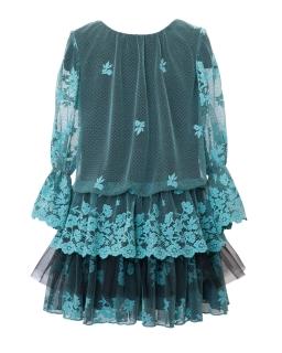 Koronkowa sukienka w stylu boho 128-164 5/J/19 zielony