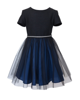Świąteczna sukienka z paskiem 128-158 14C/J/19 grantowa
