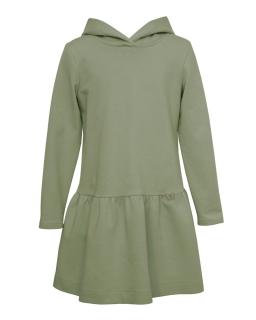 Prosta sukienka dziewczęca 128-164 26B/J/19 oliwkowa 1