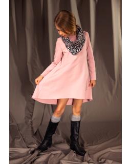 Asymetryczna sukienka dla dziewczynki 140-164 27A/J/19 różowa 1